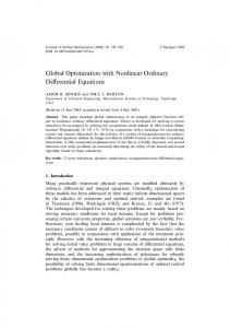 Global Optimization with Nonlinear Ordinary Differential Equations