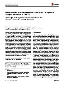 Global variance reduction method for global Monte Carlo particle transport simulations of CFETR