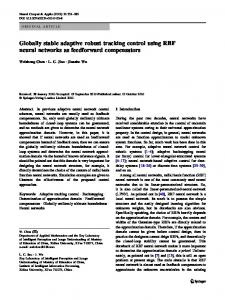 Globally stable adaptive robust tracking control using RBF neural networks as feedforward compensators