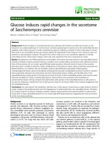Glucose induces rapid changes in the secretome of Saccharomyces cerevisiae