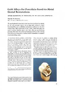 Gold alloys for porcelain-fused-to-metal dental restorations