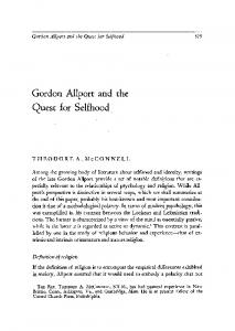 Gordon Allport and the quest for selfhood