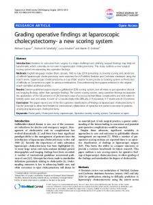 Grading operative findings at laparoscopic cholecystectomy- a new scoring system