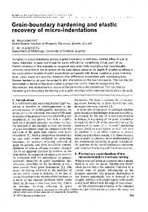 Grain-boundary hardening and elastic recovery of micro-indentations