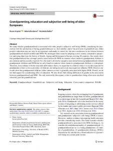 Grandparenting, education and subjective well-being of older Europeans