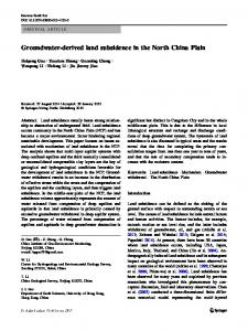 Groundwater-derived land subsidence in the North China Plain