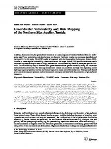 Groundwater Vulnerability and Risk Mapping of the Northern Sfax Aquifer, Tunisia