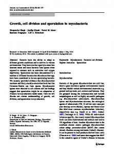Growth, cell division and sporulation in mycobacteria