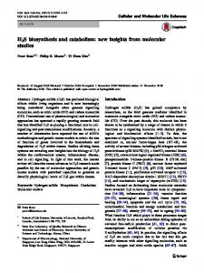 H2S biosynthesis and catabolism: new insights from molecular studies