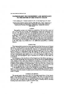 Haemoglobin polymorphism and resistance to helminths in Red Sokoto goats