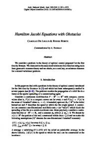 Hamilton Jacobi Equations with Obstacles