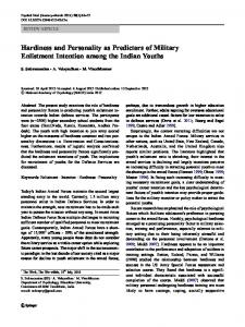 Hardiness and Personality as Predictors of Military Enlistment Intention among the Indian Youths