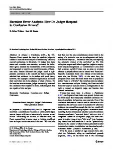 Harmless Error Analysis: How Do Judges Respond to Confession Errors?
