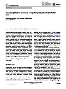 Has eutrophication promoted forage fish production in the Baltic Sea?