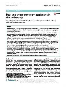 Heat and emergency room admissions in the Netherlands