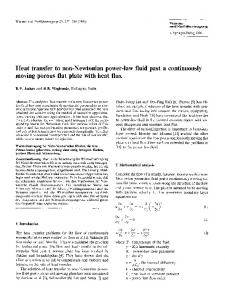 Heat transfer to non-Newtonian power-law fluid past a continuously moving porous flat plate with heat flux