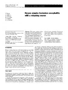 Herpes simplex brainstem encephalitis with a relapsing course