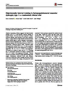 High-intensity interval training in facioscapulohumeral muscular dystrophy type 1: a randomized clinical trial