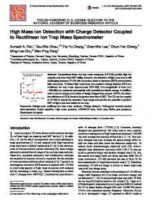 High Mass Ion Detection with Charge Detector Coupled to Rectilinear Ion Trap Mass Spectrometer