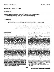 High-strength austenitic steels with different alloying systems and carbide hardening