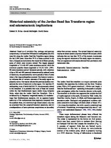 Historical seismicity of the Jordan Dead Sea Transform region and seismotectonic implications