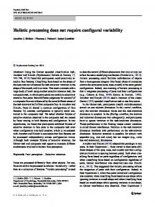 Holistic processing does not require configural variability