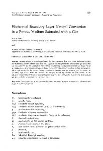 Horizontal boundary-layer natural convection in a porous medium saturated with a gas