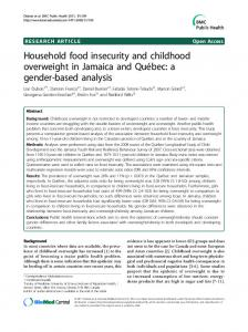 Household food insecurity and childhood overweight in Jamaica and Québec: a gender-based analysis
