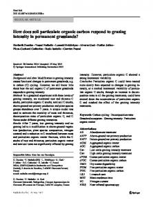How does soil particulate organic carbon respond to grazing intensity in permanent grasslands?