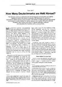How many Deutschmarks are held abroad?