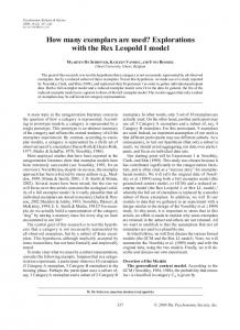How many exemplars are used? Explorations with the Rex Leopold I model