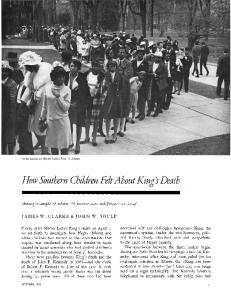 How southern children felt about king's death