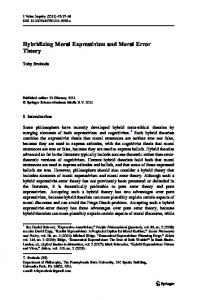 Hybridizing Moral Expressivism and Moral Error Theory