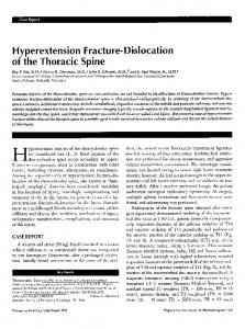 Hyperextension fracture-dislocation of the thoracic spine