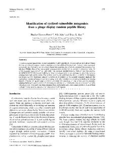 Identification of cyclized calmodulin antagonists from a phage display random peptide library