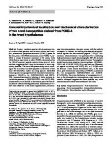 Immunohistochemical localization and biochemical characterization  of two novel decapeptides derived from POMC-A  in the trout hypothalamus
