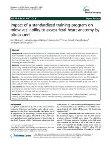 Impact of a standardized training program on midwives' ability to assess fetal heart anatomy by ultrasound