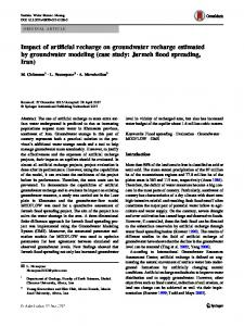 Impact of artificial recharge on groundwater recharge estimated by groundwater modeling (case study: Jarmeh flood spreading, Iran)