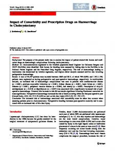 Impact of Comorbidity and Prescription Drugs on Haemorrhage in Cholecystectomy