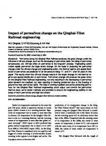 Impact of permafrost change on the Qinghai-Tibet Railroad engineering