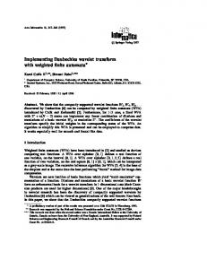 Implementing Daubechies wavelet transform with weighted finite automata