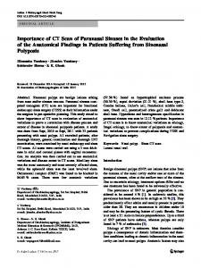 Importance of CT Scan of Paranasal Sinuses in the Evaluation of the Anatomical Findings in Patients Suffering from Sinonasal Polyposis