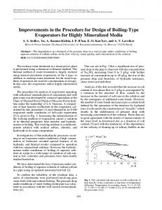 Improvements in the procedure for design of boiling-type evaporators for highly mineralized media