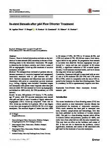 In-stent Stenosis after p64 Flow Diverter Treatment