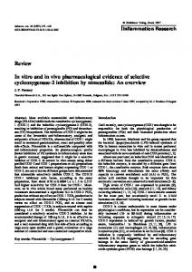 In vitro and in vivo pharmacological evidence of selective cyclooxygenase-2 inhibition by nimesulide: An overview