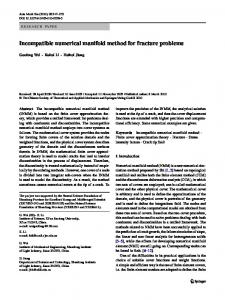 Incompatible numerical manifold method for fracture problems