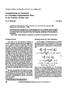 Incompleteness of conversion in a traveling polymerization wave in the presence of heat loss