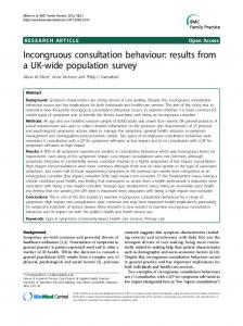 Incongruous consultation behaviour: results from a UK-wide population survey