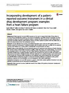 Incorporating development of a patient-reported outcome instrument in a clinical drug development program: examples from a heart failure program