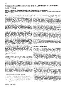 Incorporation of linoleic acid and its conversion to λ-linolenic acid in fungi